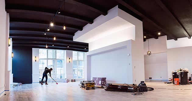 Light Grey Art Lab's expansion — shown here during construction — will house new galleries, an artists shop and a space dedicated to workshops. Submitted image