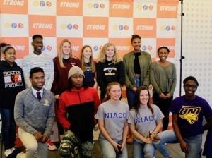 Sixteen Minneapolis Public Schools seniors signed to continue their athletic careers in college during a ceremony Feb. 1. Photo by Nate Gotlieb