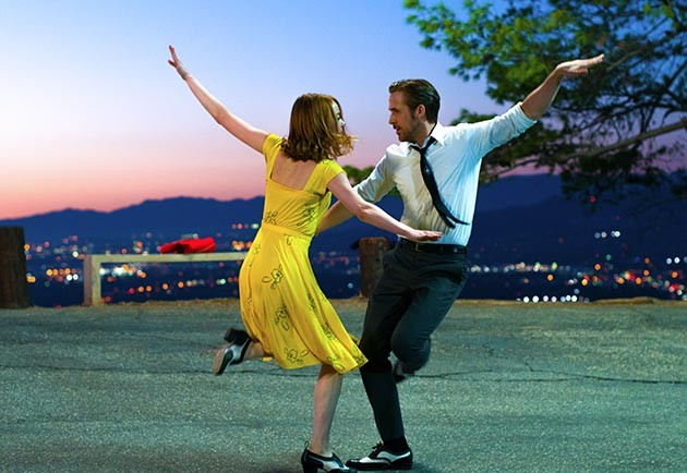 "Mia (Emma Stone) and Sebastian (Ryan Gosling) in ""La La Land"": Fourteen Oscar nominations and a semi-cure for the Trump blues. Photo courtesy of Black Label Media"