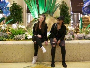 Aura Boutique co-founders Ellie Berquist (l) and Kya Walker, pictured after a Las Vegas trade show. Photo by Haythem Lafhaj