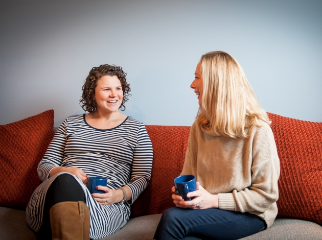 Therapists Alexa Tennyson (l) and Kori Hennessy. Photo by Ted Salzman Photography