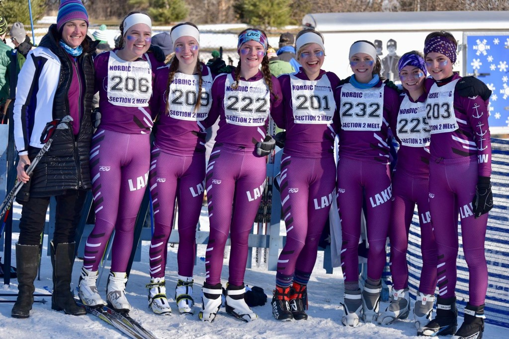 The Southwest girl's Nordic team at its section meet.
