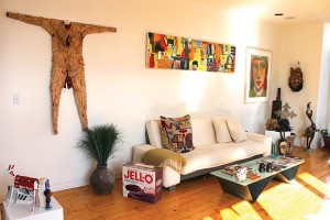 Robyne Robinson's art collection decorates her Southwest Minneapolis condo. Photo by Jahna Peloquin