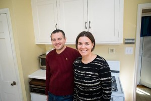 Elizabeth and David Kruger were just starting a kitchen remodel project in March. Photo by Annabelle Marcovici