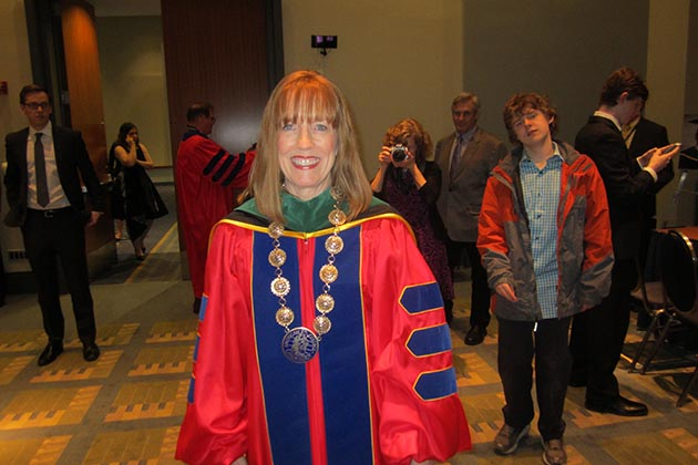 Straight out of South Minneapolis: Dr. Minnow Walsh before being inaugurated as president of the American College of Cardiology Sunday night in Washington, D.C.