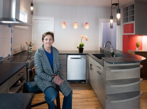 Wedge resident Beth Harrington is showing off a new entertainer's kitchen in her turn-of-the-century home. Submitted photo