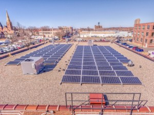 Able Seedhouse + Brewery powered on its new rooftop solar installation on April 6. Photo courtesy Innovative Power Systems