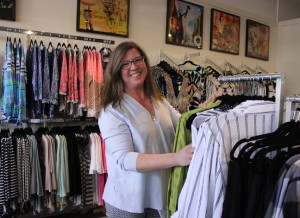 Bower Boutique owner Leta Foster at her new shop at 38th & Grand.