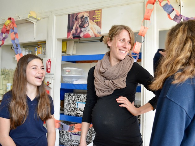Carondelet Catholic School teacher Jill Zastrow was recently named K-8 teacher of the year by the Minnesota Independent School Forum. Photos by Nate Gotlieb