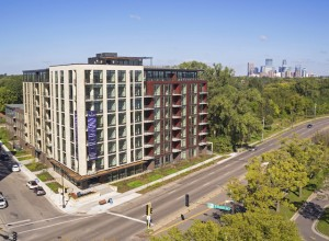 The Lakes Residences opened this past October near Lake Calhoun. Photo courtesy Greystar