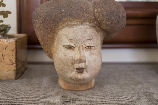 "A treasured sculpture, ""Head of an Opera Singer."" Photo by Susan Schaefer"