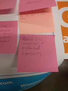 Peter Bajurny's Post-it Note comment started a political tempest this winter. Photo courtesy Peter Bajurny