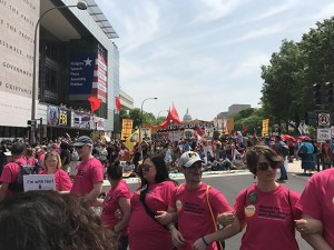 Organizers estimated 300,000 joined the April 29 People's Climate March in Washington, D.C., which coincided with President Trump's 100th day in office. Submitted photo courtesy Ann Manning