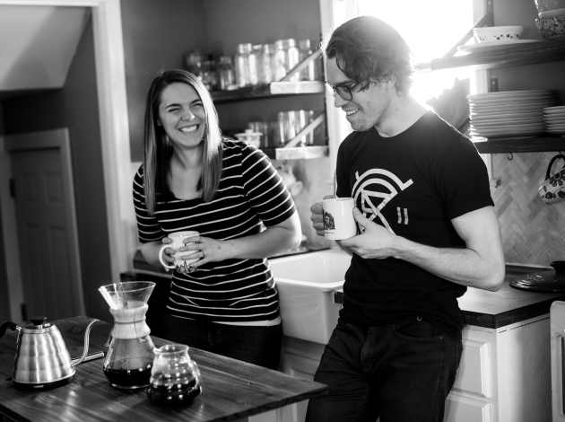 Carley Kammerer and Ben Griswold will bring Gutter Punk Coffee to the Whittier Farmers Market in June. Submitted photo