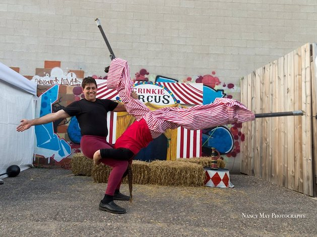 Jason Ritenour, who performed with his wife in the acro-stilting group High Stakes, died April 30 in a car accident. Photo courtesy of Nancy May Photography