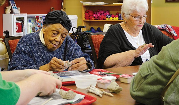 About 24 seniors participated in the Southwest Center's adult day program. File photo