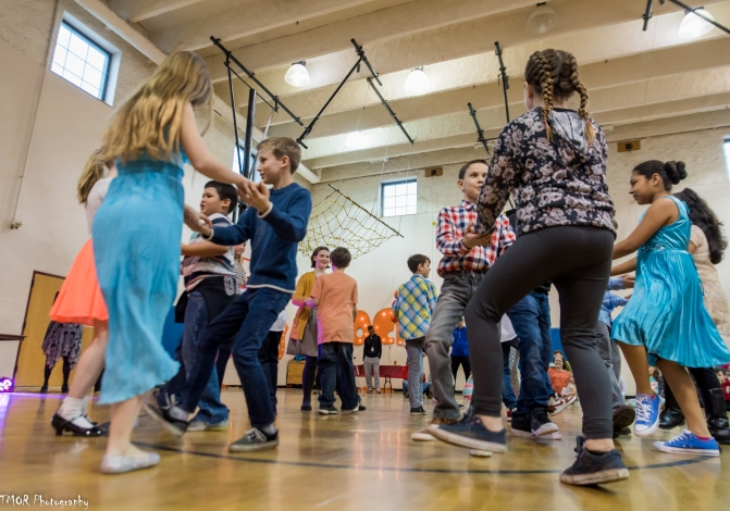 Windom School fifth graders perform ballroom dance at the community event Tots Rock in March. Photo by TMOR Photography