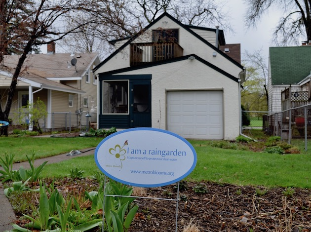 Rain gardens and permeable pavers dot the alleys in some Diamond Lake neighborhoods, thanks to the efforts of the Friends of Diamond Lake organization. Photos by Nate Gotlieb