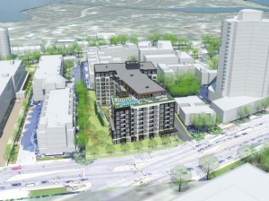 A 200-unit building is proposed to stand between Lake Point and the Loop Calhoun Condominiums on West Lake Street.