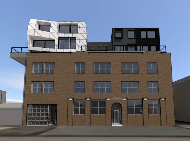 Bruce Dachis will install seven apartment units on top of his existing building at 29th & Bryant.