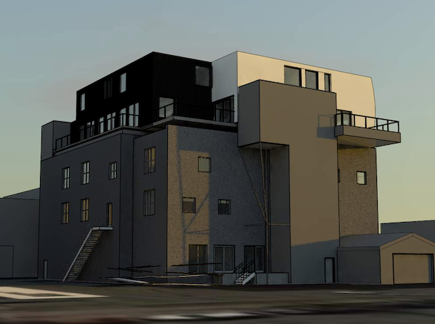 The seven units will be built in a factory and lifted onto the existing building.
