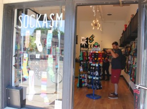 Sassy socks are available at Sockasm at Lake & Bryant.