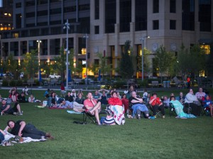 Green Minneapolis has begun hosting bring-your-own-beverage movie nights at the Commons. Photo by Christopher Stitcha Photography
