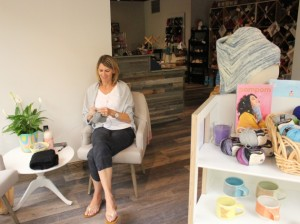 Owner Kate Bispala at Harriet and Alice.
