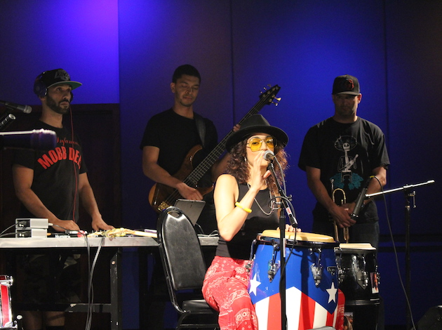 "Musical guest Maria Isa performs during a ""Minnesota Tonight"" taping."