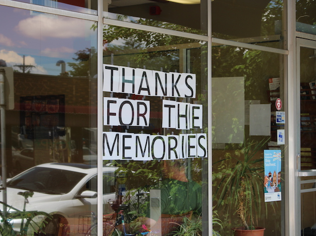 A sign hung in the window of the Southwest Senior Center on June 30, the day it closed after 41 years of serving seniors.