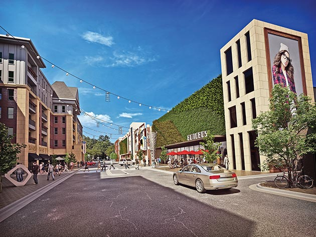 The Edina Collaborative project aims to remake the 50th & France commercial district by adding new retail, residential construction and pedestrian amenities. Submitted image