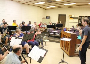 The Crosstown Community Band, founded by Kenny residents, at a recent rehearsal.