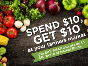 The Market Bucks program matches purchases at several Minneapolis farmers markets.