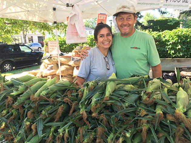 Carmen Lopez Marshall and Peter Marshall of Peter's Pumpkins & Carmen's Corn. Submitted photo