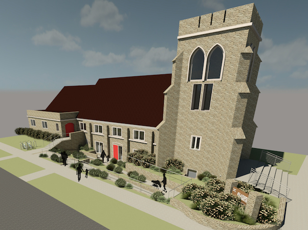 A rendering of St. John's Episcopal Church in Linden Hills, where a long-overdue construction project is underway. Submitted image