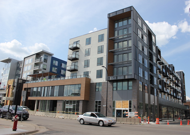Revel Apartments, now open at the former Cheapo site at 1300 W. Lake St.