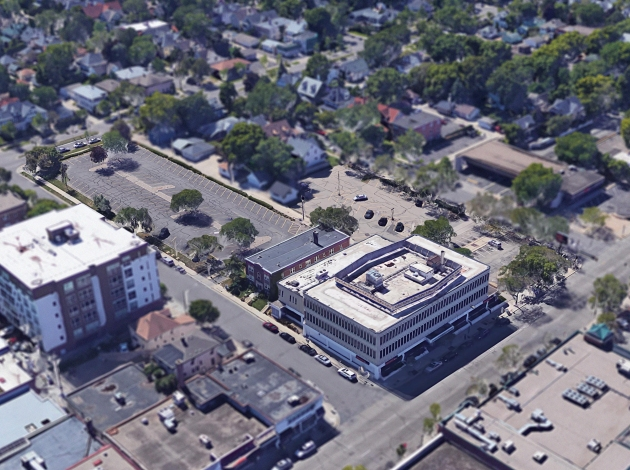 An aerial view of the Sons of Norway site. Image courtesy of Ryan Companies