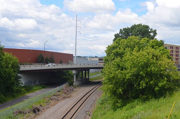 This photo provided by the Met Council shows a portion of the Wayzata Subdivision, where BNSF has requested a wall to separate freight-rail traffic from light-rail trains. Submitted photo