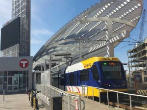 A METRO Green Line light rail train at Target Field Station. The nearly $1.9 billion Southwest Light Rail Transit project would extend the line another 14.5 miles to Eden Prairie. File photo