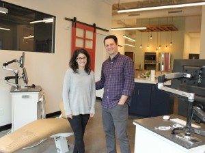 Liz and Dr. Geoff Sudit at Mint Orthodontics, now open at 43rd & Upton.