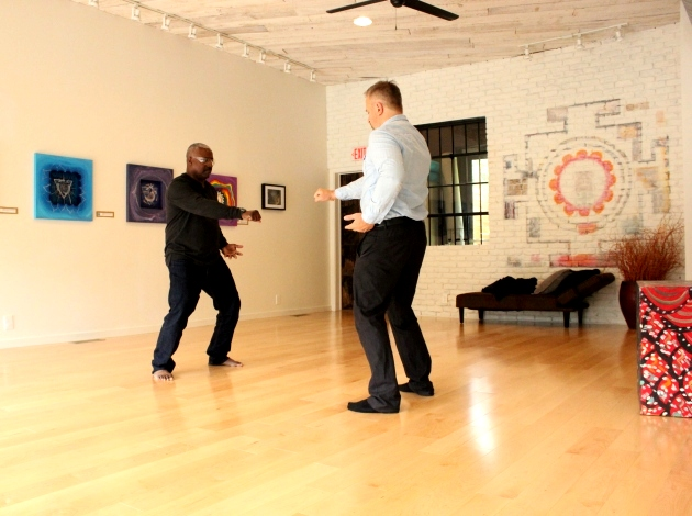 Tai Chi and QiGong instructor Lee Dunn (l) and Sattva co-owner Dan Gorbunow at Sattva Natural Health and Recovery.