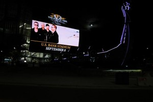 They see the whole of the moon: U2 brings its Irish weapons of mass inspiration to downtown Minneapolis Friday night. Photo by Jim Walsh