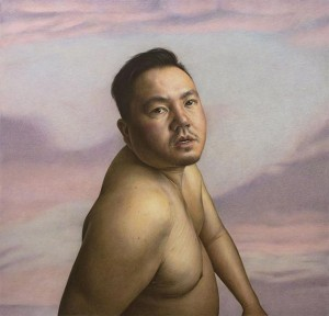 """Richie,"" one of several large-scale colored-pencil portraits in Joe Sinness' solo exhibition at the Minneapolis Institute of Art. Submitted image"