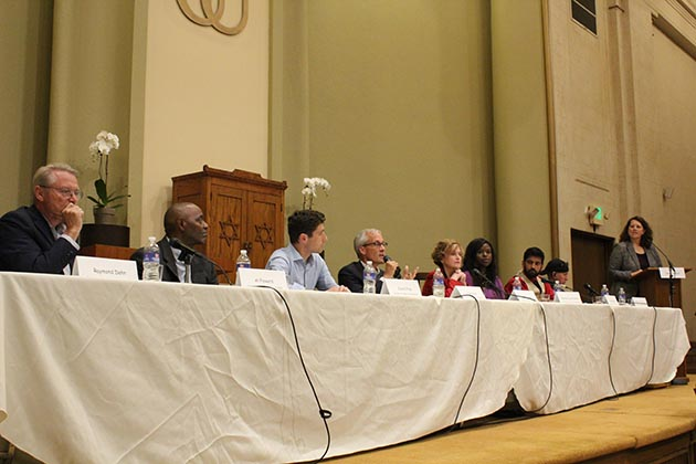 Eight candidates for mayor were invited to a Sept. 26 forum on homelessness hosted by First Universalist Church of Minneapolis in CARAG. Photo by Dylan Thomas