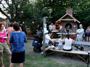 Kingfield neighbors gather in September at the pizza oven at 38th & Pleasant.