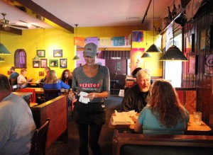 Pamela Senkyr takes orders at Pepito's.