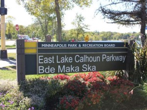 Bde Maka Ska was added to Lake Calhoun signage this spring. File photo