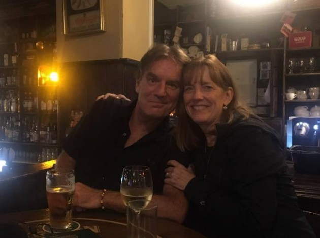 "The columnist and his sister, Dr. Mary Norine Walsh, imbibing in the good ""craic"" and conversation in Dublin, Ireland. Photo by Jim Walsh"