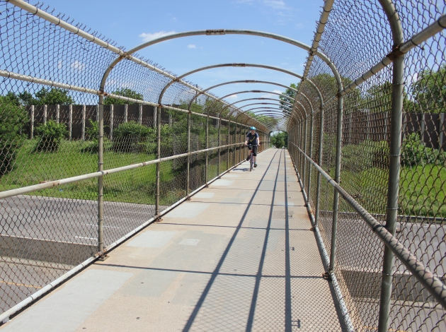 The 40th Street pedestrian bridge, pictured in 2015, is slated for reconstruction in 2018.