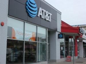 A view of the new AT&T authorized retail store on Lake Street.